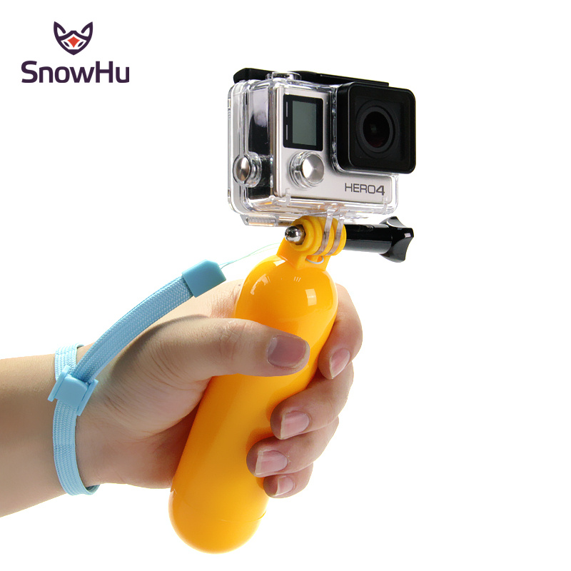 SnowHu For Gopro Accessories Bobber Floating Floaty Handheld Stick Tripod Accessories For Go Pro Hero 8 7 6 5 4 Yi SJCAM GP81