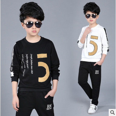 Retail children's sports suit boys and girls 3-12 years old children big virgin suit uniforms Spring clothes Jacket + Trousers 1