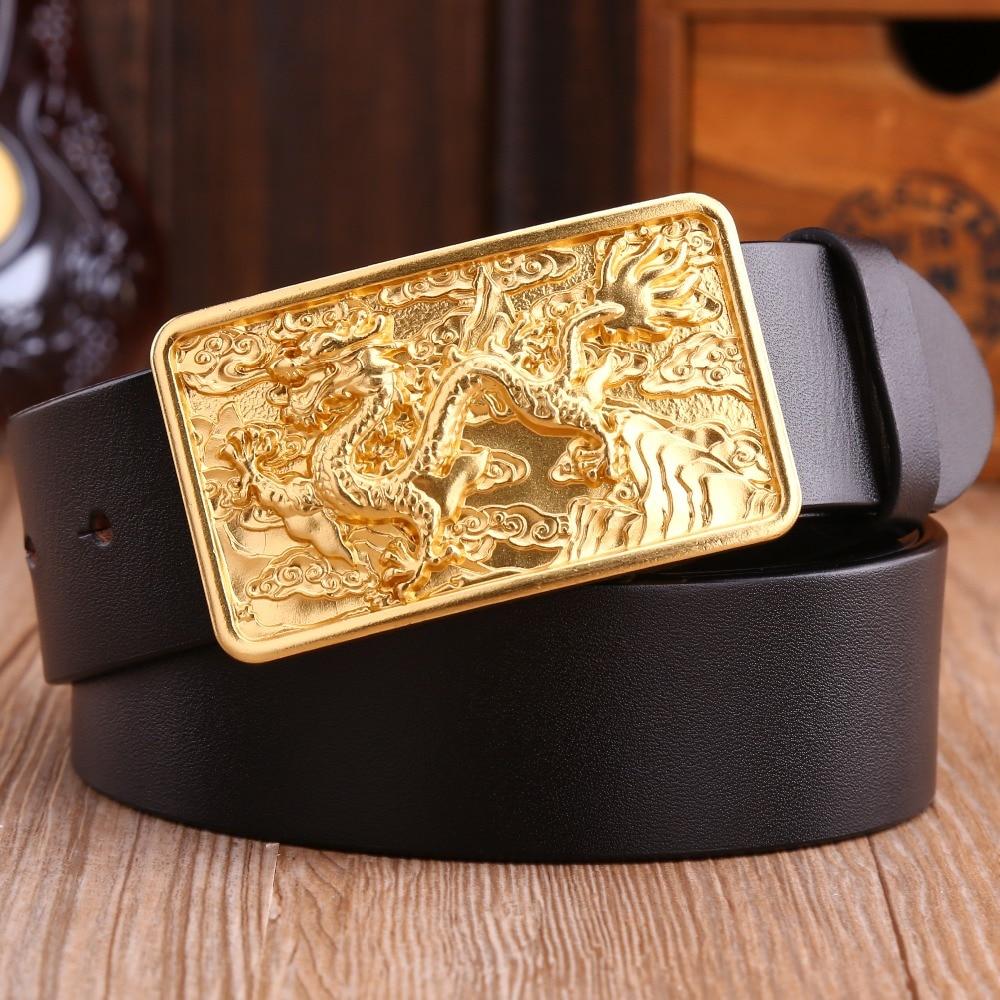 65243a4c283 dragon solid brass buckle luxury full grain 100% genuine leather Jaguar 2018  new designer belt men high quality tiger epacket 52-in Belts   Cummerbunds  from ...