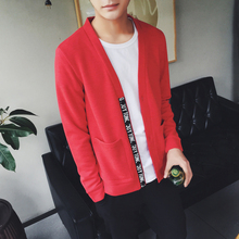 Korean all match special offer every day male color V neck font b sweater b