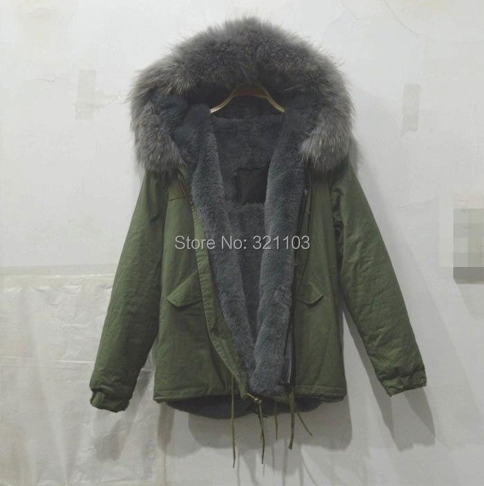Mme furs gris parka avec grand gris réel col de fourrure, chine fourrure parka manteaux fabricant fournisseur prix livraison gratuite