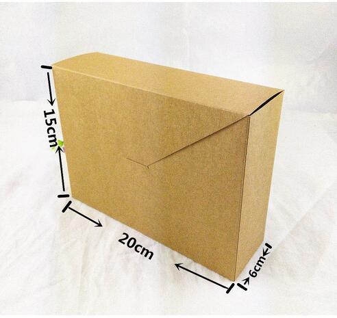 12pcs/lot Free Shipping Bigger Gift Box Scarf/Towel/Jewelry Box Retail Kraft Paper Box Gift Power Bank Packaging Cardboard Box