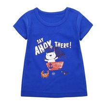 лучшая цена Summer Children T Shirt Casual Simple Baby Girls Soft Cotton Tops Kid Toddler Short Sleeve T-shirts Kids Clothing