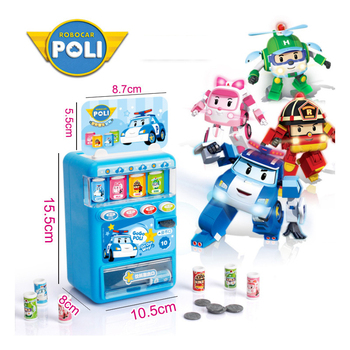 new boy poli Robocar Korea Kids Vending Machine Toy Pretend Play Simulation Shopping Coin-operated Toys  For Children Gift цена 2017