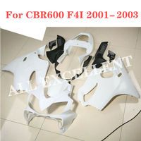 Modification accessories Sports bodywork Full fairing kit red painted For HONDA CBR600 F4I 2001 2003 2002 Injection UNPAINTED