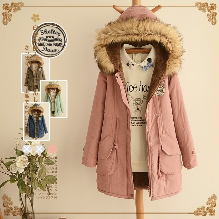 Autumn and Winter Clothes New Students Hooded Clothes Plus Velvet Thick Cotton Jacket Long Paragraph Women Hot Sale point systems migration policy and international students flow