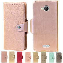 Embossing Stand Flip PU Leather wallet Case Cover For Fly IQ443 Trend Phone cases(China)