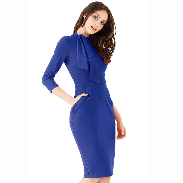 Royal Blue Pencil Dress