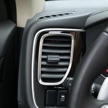 Автомобиль-Стайлинг нержавеющая сталь приборной панели вентиляционное отверстие изменение украшения frame Стикеры чехол для Mitsubishi Outlander 2013-2017