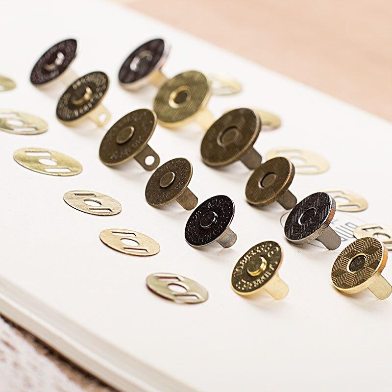 Бесплатная доставка 100 шт./партия, золотые/Бронзовые/серебряные/черные металлические магнитные кнопки для самодельных сумок, застежки-молн...