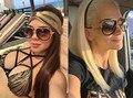 Nueva Moda gafas de Sol Clásicas de Las Mujeres de Gran Tamaño Revestimiento de Espejo de Conducción Gafas de Sol De Los Hombres UV400 Gafas Gafas de Sol Feminino