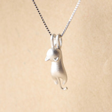925 Sterling Silver Necklaces Cats Pendants&Necklaces Sterling Silver 925 Necklace Fine Jewelry Colar de Plata VNS8006(China)