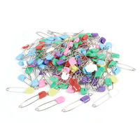 145 Pcs Plastic Locking Cloth Nappy Diaper Safety Pins Assorted Color