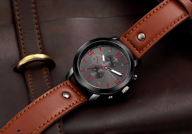 HTB1zitdadjvK1RjSspiq6AEqXXaS Relogio Masculino Mens Watches Top Luxury Brand Waterproof Sports Military Watch Men Fashion Leather Quartz Male Wristwatch