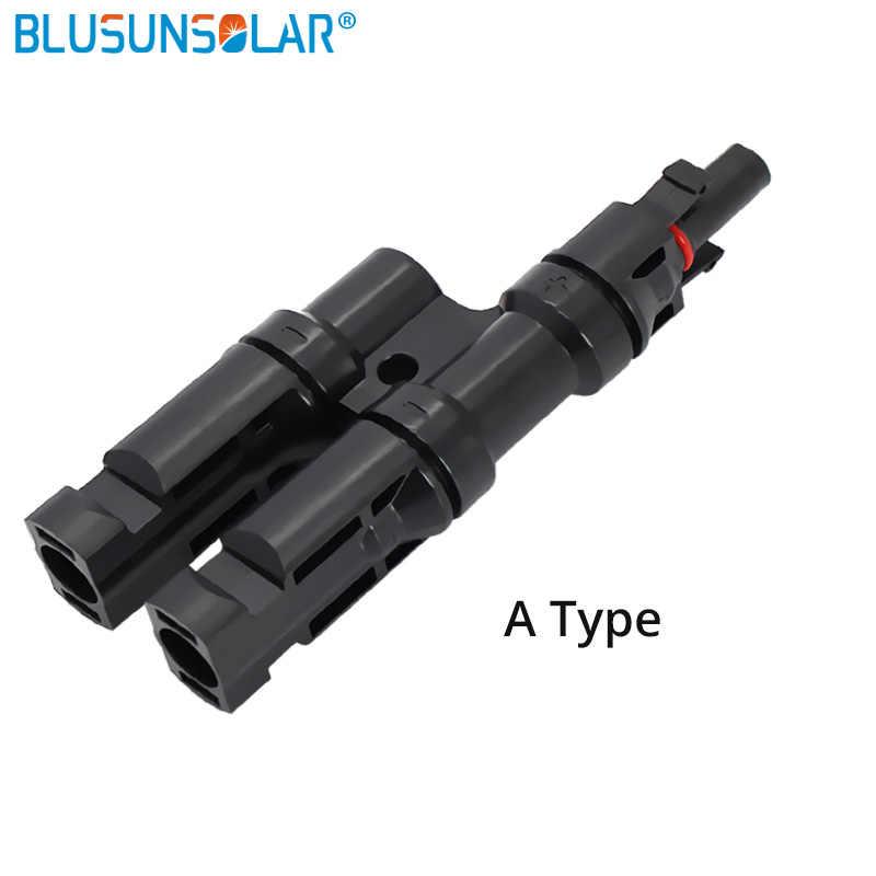 IP67 2 إلى 1 T فرع MC4 موصل TUV وافق FFM أو MMF 100% PP0 2.5 مللي متر sq ~ 6.0 مللي متر TF0168
