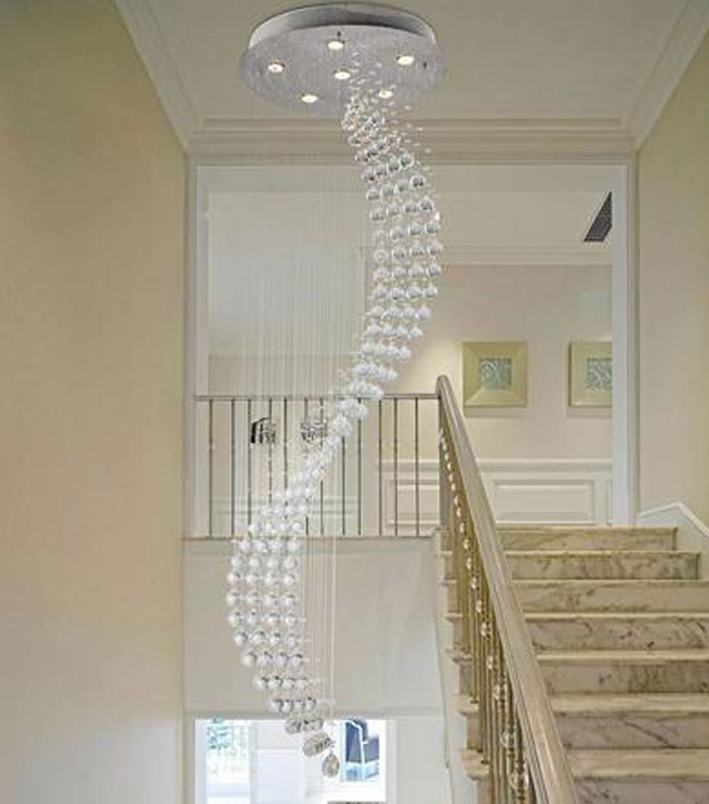 Lighting Basement Washroom Stairs: Aliexpress.com : Buy Spiral Rain Drop Chandelier Modern