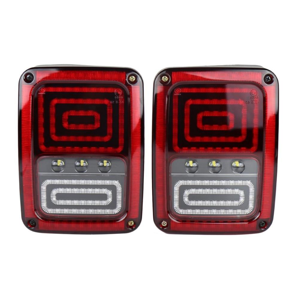 New 1 Pair Car Tail Light Brake Light Turn Signal Lamp Rear Running Lights for Jeep for Wrangler LED Rear Reversing Brake Light