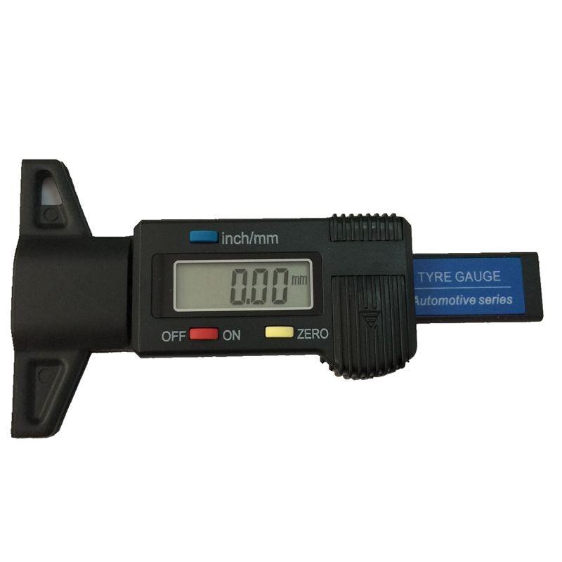 """0,01 mAutomobilio padangos skaitmeninis protektoriaus gylio matuoklis 0-25.4mm / 0-1 """"Elektroninis protektoriaus stabdžių trinkelės batų matuoklio gylis Testerio matuoklis su komplektu"""