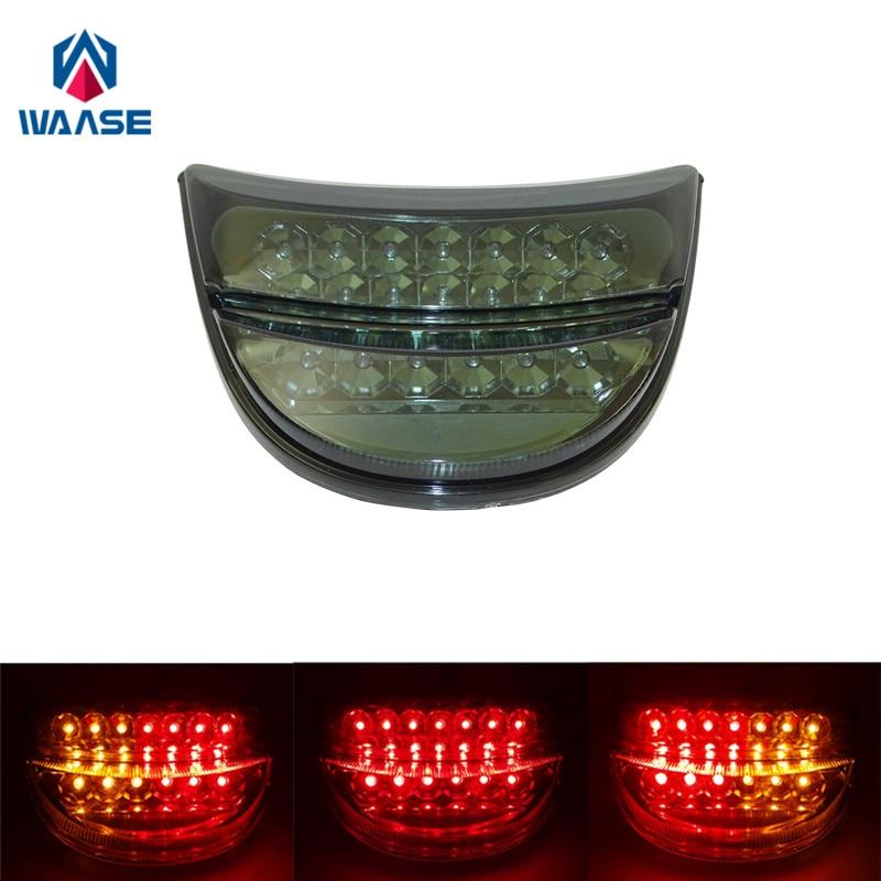waase For Honda CBR954RR CBR 954 RR 2002 2003 Chrome Rear Tail Light Brake Turn Signals Integrated LED Light