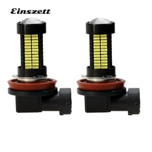 2pcs H8 H11 Auto LED Fog Light Bright White 12V 108SMD 4014 55W LED HeadLight Bulb DRL Lamp For Motorcycle Car Accessories