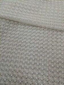 Image 5 - Высококачественная кружевная ткань для свадебного платья, расшитая LJY 53103, с бусинами