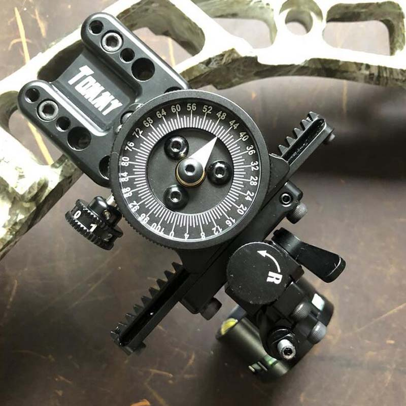 Archery Hogg Tommy Sight Compoun bow Single Pin Bow Sight Adjustable Pointer HRD Technology Hunting ShootingArchery Hogg Tommy Sight Compoun bow Single Pin Bow Sight Adjustable Pointer HRD Technology Hunting Shooting
