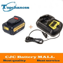 High Quality 20V 4000mAh Power Tools Batteries Replacement Cordless for Dewalt DCB181 DCB182 DCD780 DCD785 DCD795+Charger