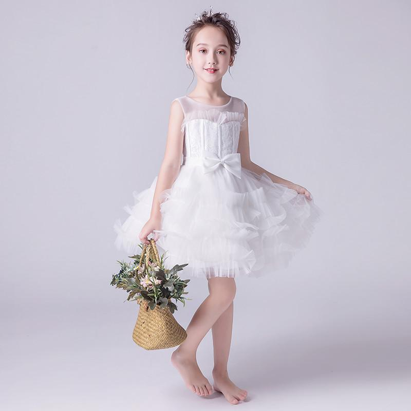 2019 Kids Flower Girl Lace Princess Wedding Ball Gown Teen Girl Pageant Birthday Party Costume Children Mesh Baptism Dress Q9292019 Kids Flower Girl Lace Princess Wedding Ball Gown Teen Girl Pageant Birthday Party Costume Children Mesh Baptism Dress Q929