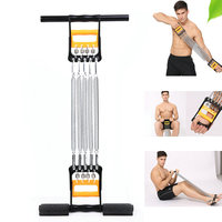 Spring Chest Developer Chest Expander+Hand Grip+Pedal 5 Spring Multifunctional Detachable Muscle Exercise Equipment Body Bulding