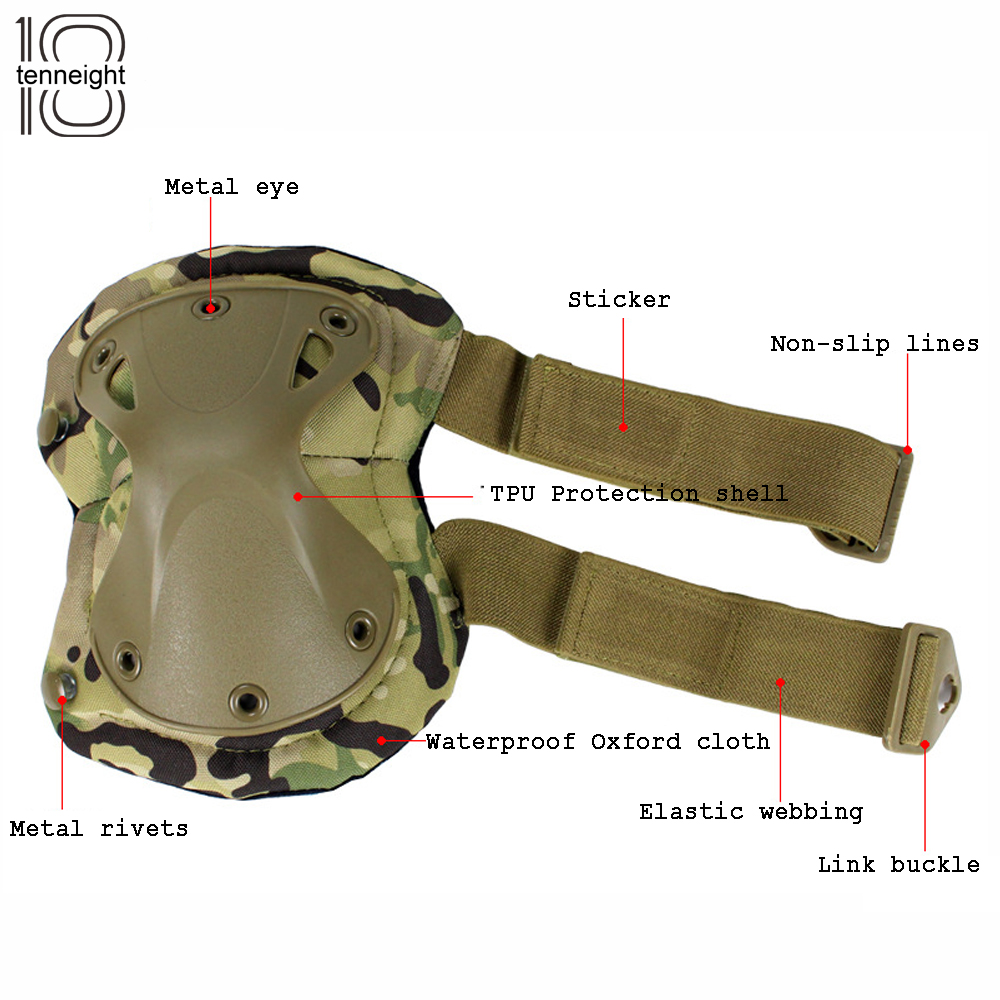 Outdoors tactical paintball protection military tactical knee pads & elbow pads set CS sports hunting shooting protective gear