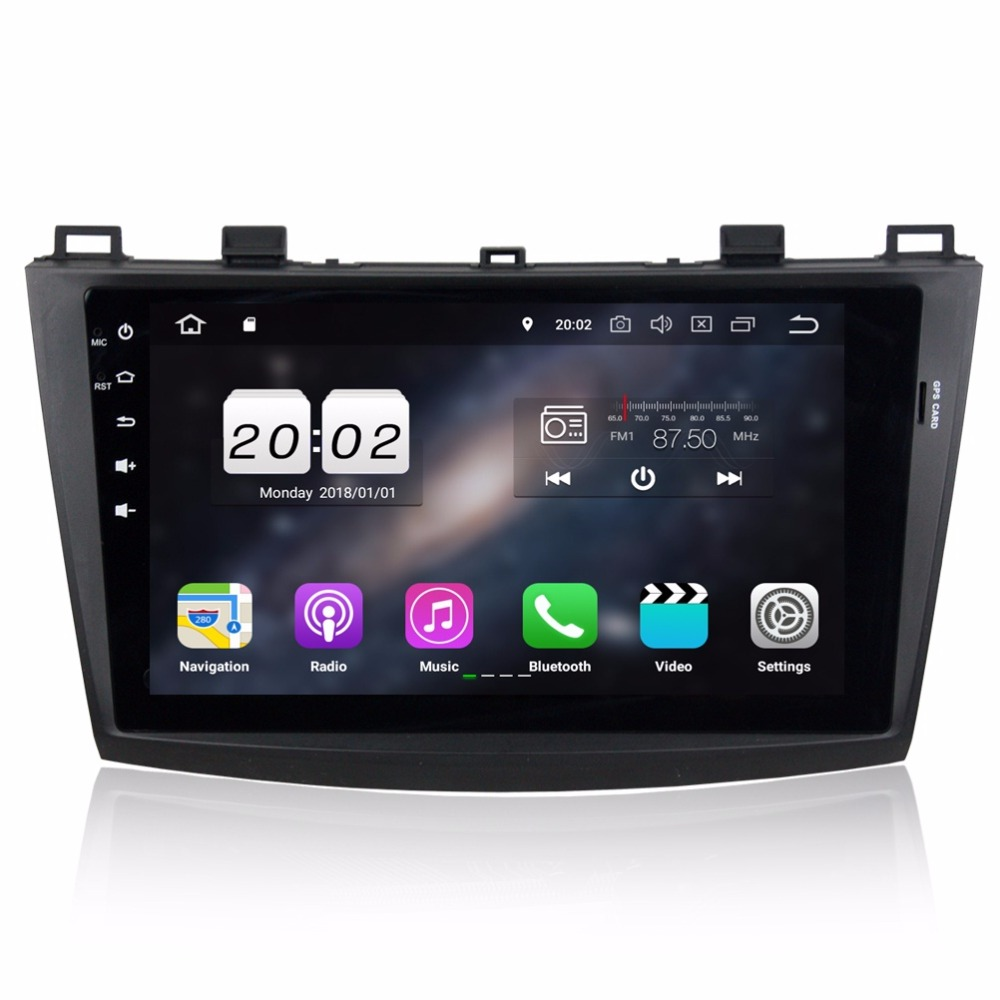 """Excellent 2GB RAM Quad core 2 din 9"""" Android 8.1 Car DVD Player for Mazda 3 2010 2011 2012 GPS Radio Bluetooth USB WIFI 16GB ROM 1"""