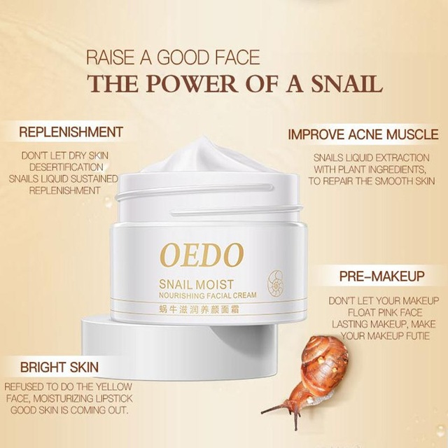 Snail Moist Nourishing Facial Cream Anti Wrinkle Cream Imported Raw Materials Skin Care Anti Aging Wrinkle Snail Care 4