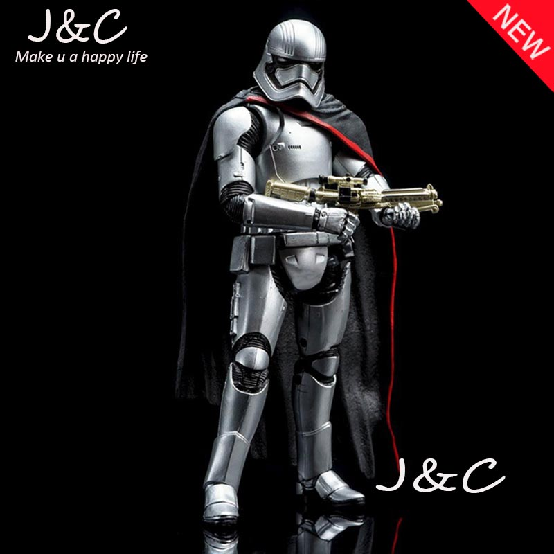 Free Shipping 2016 15CM Star Wars Action Figure Toys Phasma Action Figure Collection Model Anime Star Wars free shipping super big size 12 super mario with star action figure display collection model toy