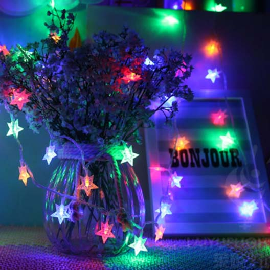 SPLEVISI USB 10M 60LED Star Starry Fairy Light String For Wedding Party Decorations With 8 Display Models