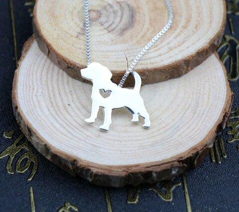 Ожерелье с изображением собаки Бигля украшение золотым покрытием