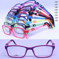 drop sales T8028 pupil TR90 colorful 180 degree flexible spring hinge rectangle with silicone tips kid optical glasses frame