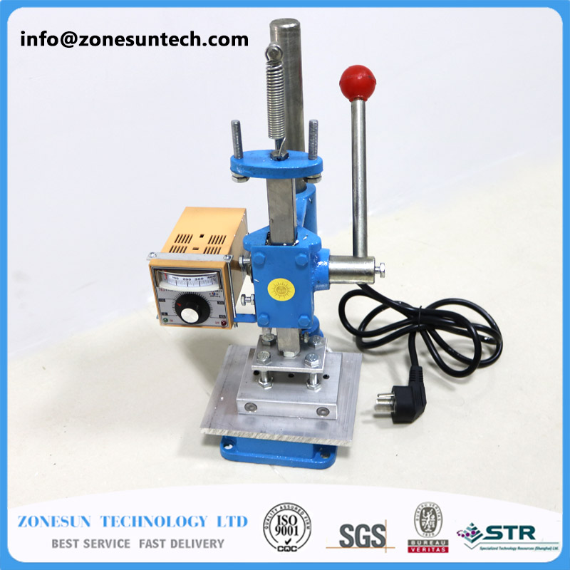 ZONESUN 110V Manual Stamping Machine,leather LOGO Creasing Machine,pressure Words Machine,LOGO Stampler,name Card Stamping