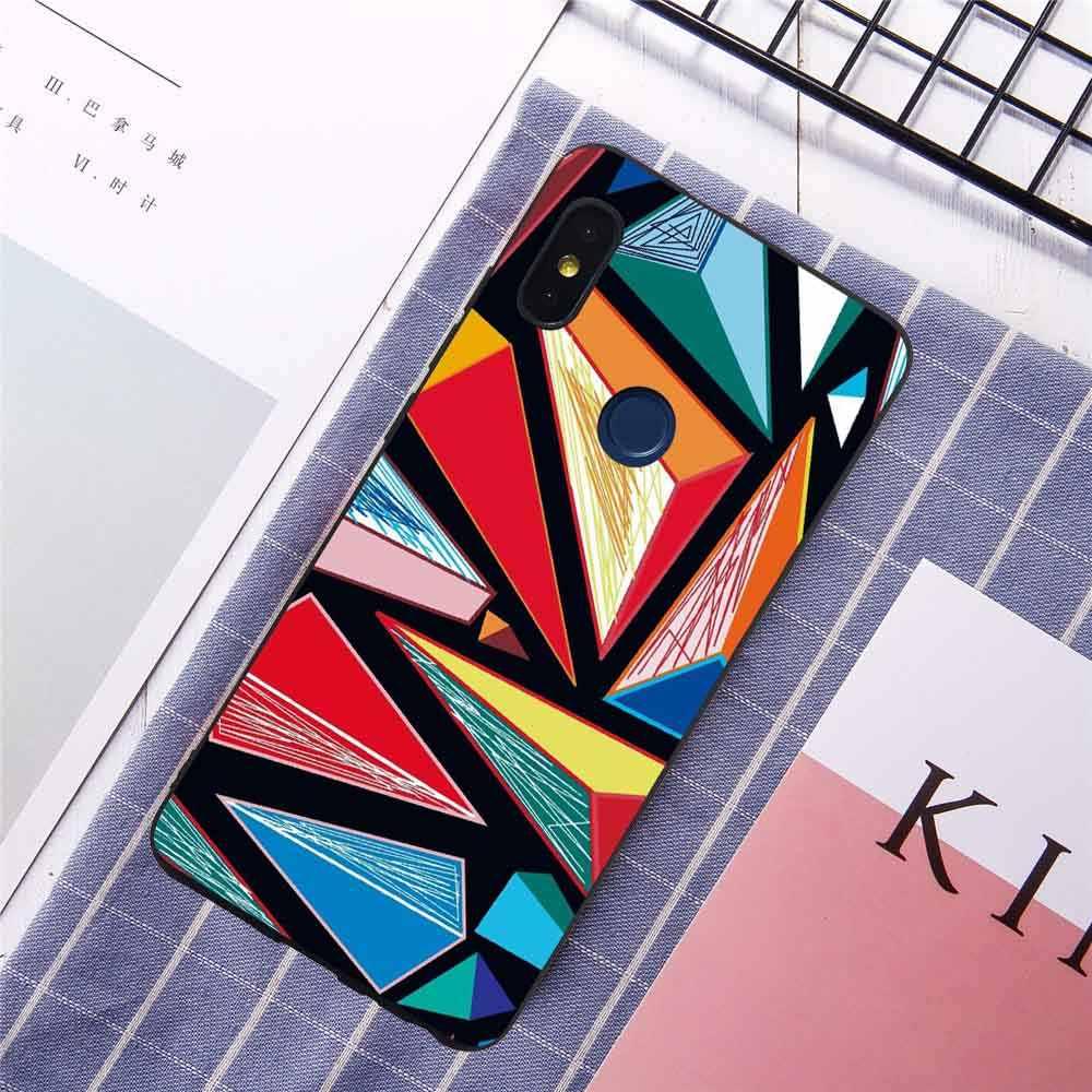 Pour Redmi Note 6 Pro 6A S2 Coque de téléphone Xiaomi 8 SE 8SE 6X 5X A1 A2 belles fleurs feuilles coques tendance Skins Fundas Coqe Coque