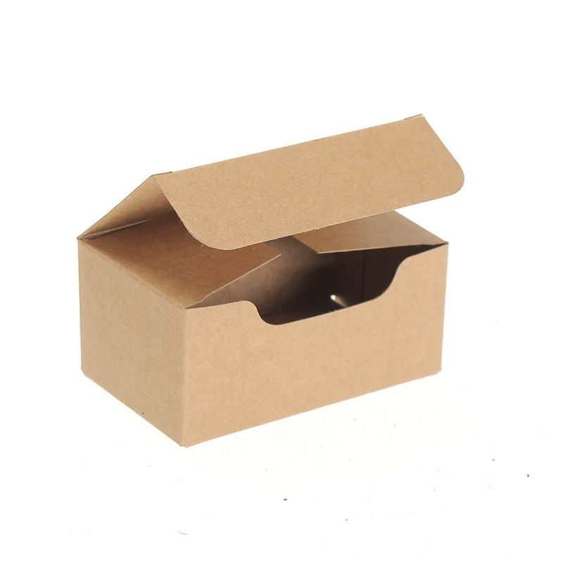 Small Kraft Paper Box Gift Craft Play Business Name Card Tea Soap ...