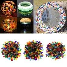 50 г/пакет, разноцветная квадратная прозрачная стеклянная мозаичная плитка для рукоделия, мозаичная мозаика, детская головоломка, художественное ремесло, прозрачный камень