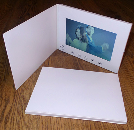 7inch Screen 1GB Brochure Universal Video Greeting Cards Fashion Design Video Advertising Cards watching booklet hot