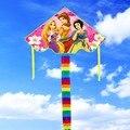 O envio gratuito de alta qualidade novas crianças pipa três princesa pipas 2 pçs/lote com linha punho brinquedo nylon ripstop wei pipa fábrica