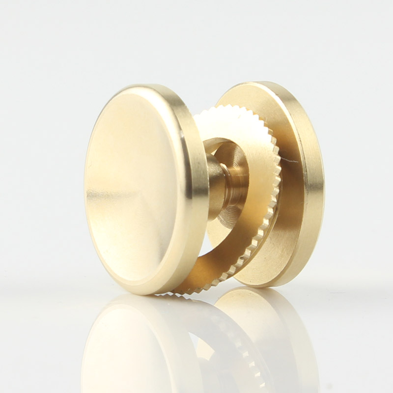 10pieces/set R188 606 608 Brass Metal Finger Hand Spinner Widget Fidget Top Bearing Button Covers Nuts Cap Gold Toys For DIY DEC