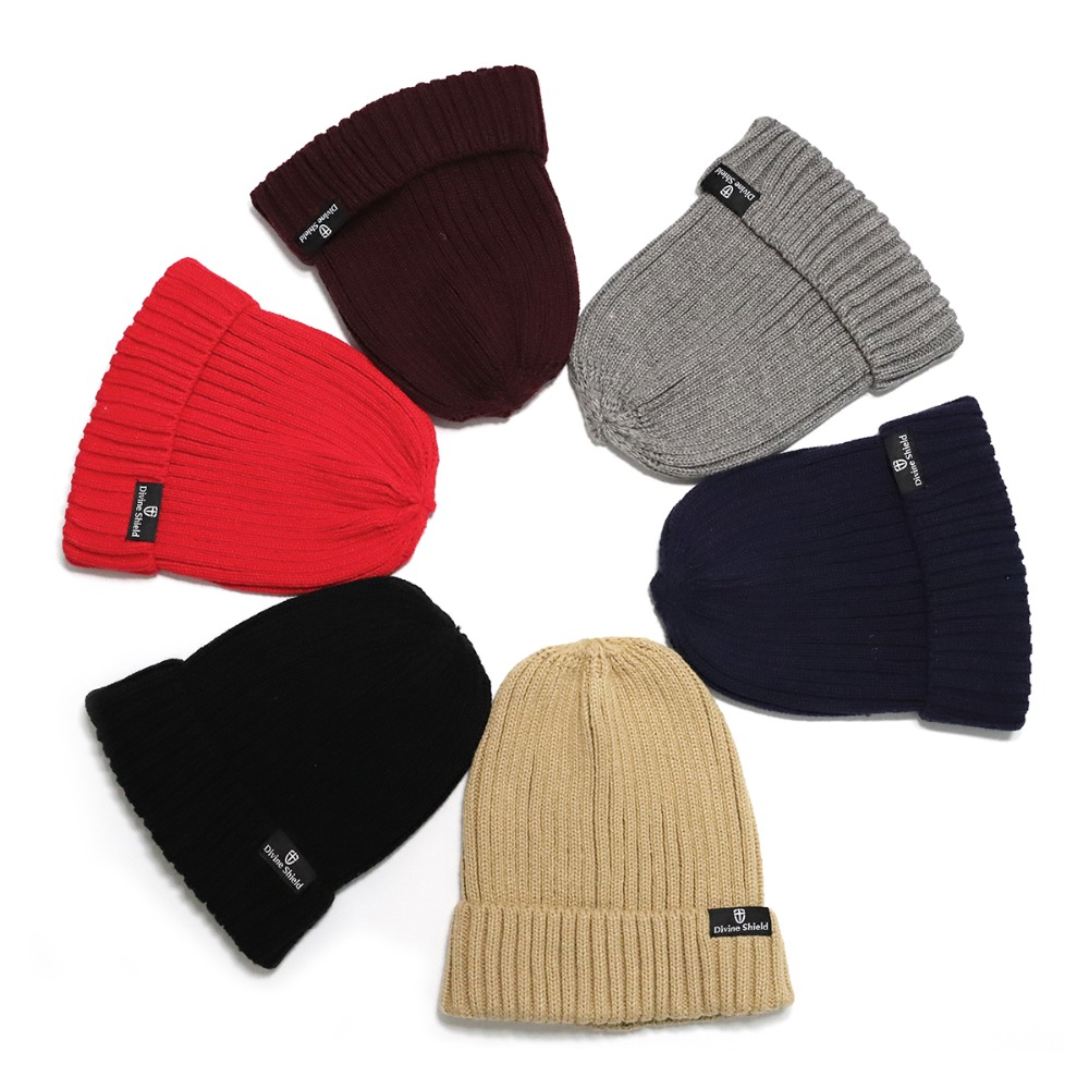 2018 Skullies Beanies Autumn Winter Female Male Brand Cotton beanie Knitted Caps Woolen Hat Casual Unisex Solid Color Bonnet