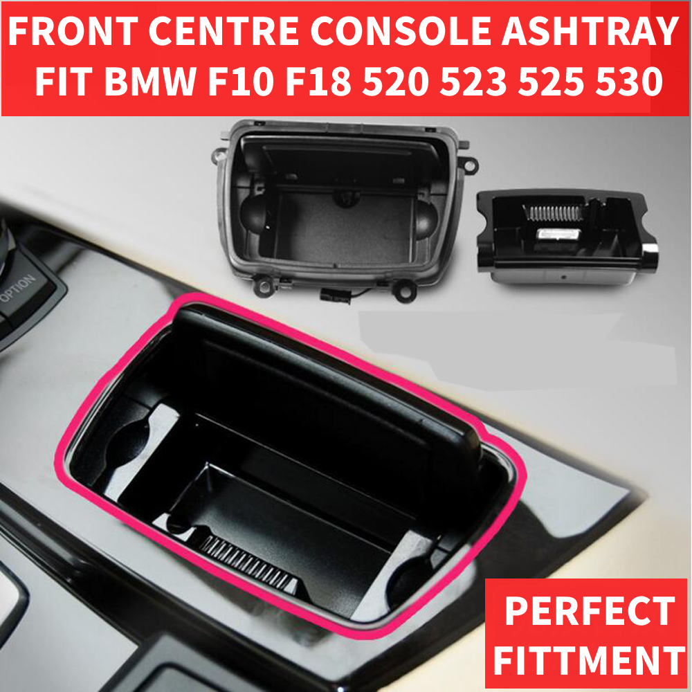 Black Plastic Front Center Console Ashtray Assembly Box Good Fits For BMW 5 Series F10 F11 F18 520 OEM 51169206347 Car Styling