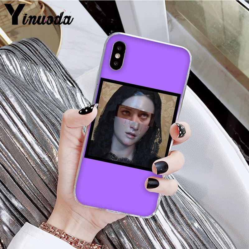 Yinuoda Great art aesthetic van Gogh Mona Lisa painting David Phone Cover for Apple iPhone 8 7 6 6S Plus X XS MAX 5 5S SE XR in Half wrapped Cases from Cellphones Telecommunications