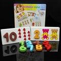 O envio gratuito de brinquedos de madeira blocos de construção digitais jogo de correspondência, ensino da matemática aid, brinquedos educativos, jogos digitais