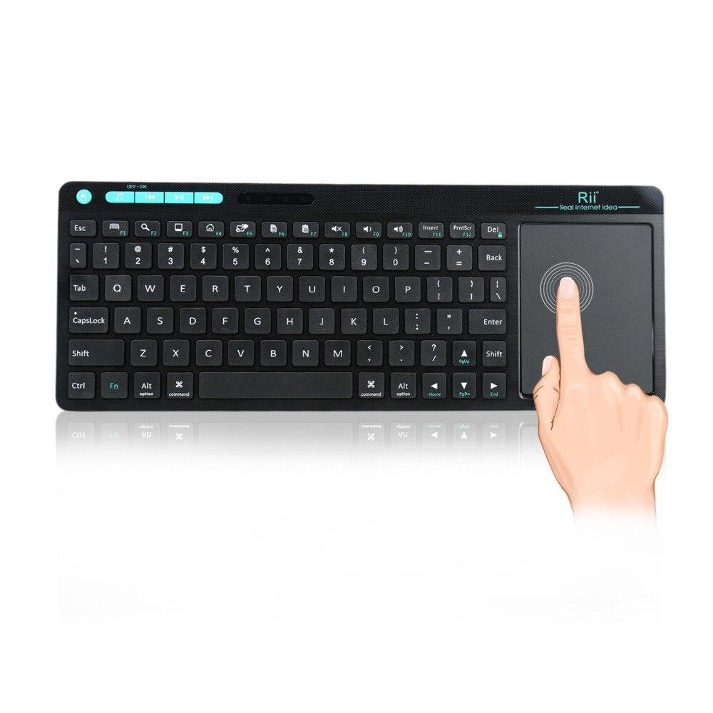 Mini Rii K18 sans fil 2.4G clavier anglais Touchpad télécommande pour Android TV Box ordinateur portable tablette PC