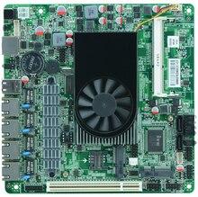 Atom D525 Firewall motherboard ITX-M5V with 4 ethernet port 6*USB/2*COM/DC12V TDP13W