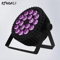 Aluminum Alloy Shell 18x18W RGBWA+UV 6in1 LED Par LED Luxury DMX Led Flat Par Lights Dj Disco Party Clubs Lighting Led Par Light